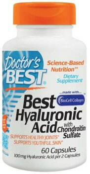Best Hyaluronic Acid with chondroitin sulfate, 60 капсул