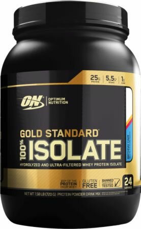 Gold Standard 100% Isolate, 720г
