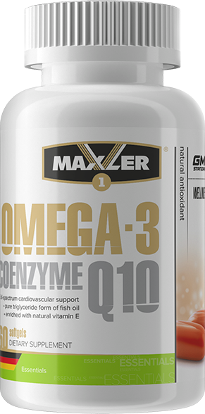 Omega-3 Coenzyme Q10 1000мг/100мг, 60 гелевых капсул