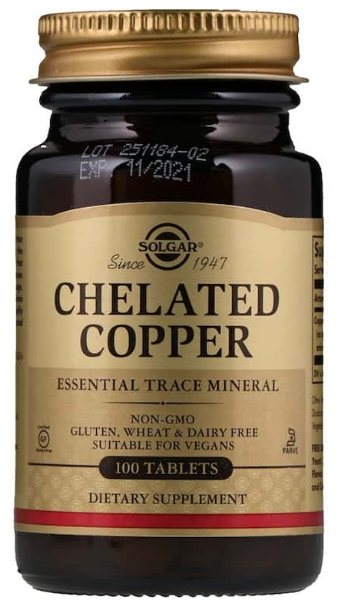 Chelated Copper, 100 таб.