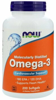 Omega-3 Molecularly Distilled, 200 капсул