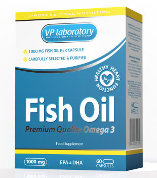 VP Fish Oil 1000мг, 60 капсул