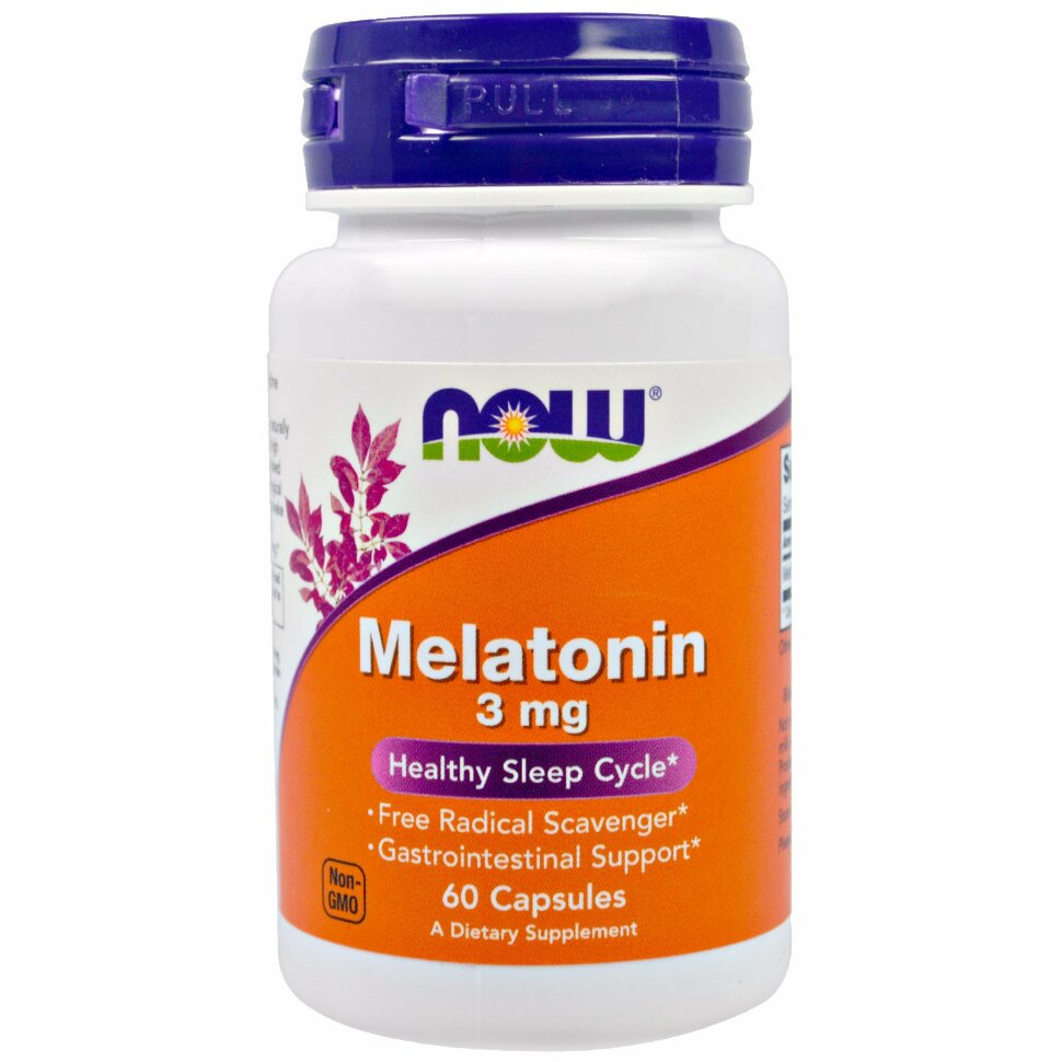 Melatonin, 3mg, 60 капсул