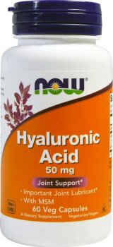 Hyaluronic Acid with MSM, 60 капсул